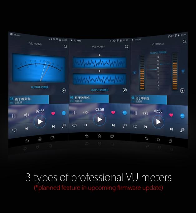Fiio X7 VU meters
