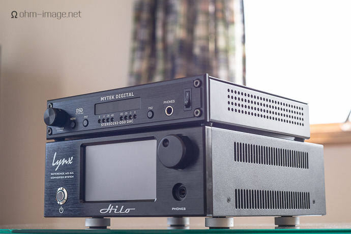 Mytek-stereo192DSDDAC-HILO stack front-1