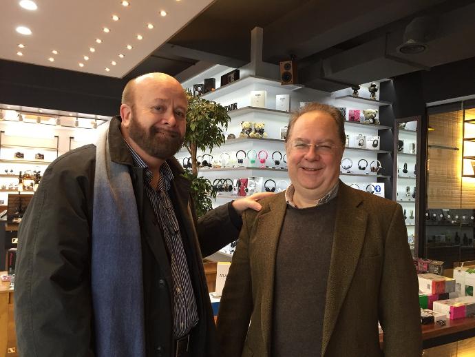 John Franks (left) with Rob Watts (right)