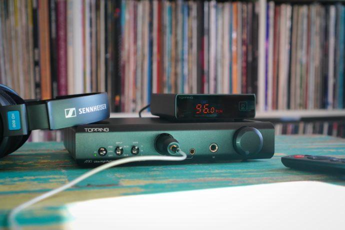 Topping A90 headphone amplifier, Topping E30 DAC and Sennheiser HD600